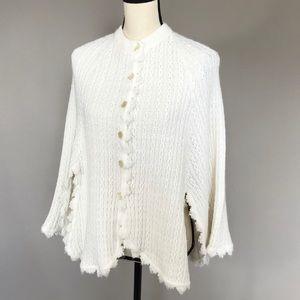 70s cape/poncho sweater